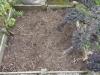 Le sol des carrés de potager s'affaise
