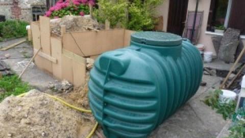 Reserve d'eau pour l'arrosage du potager