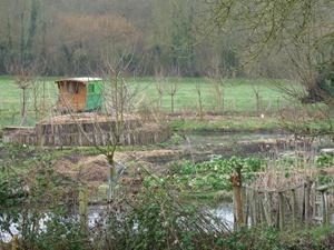 Ile jardin de la ferme du bec