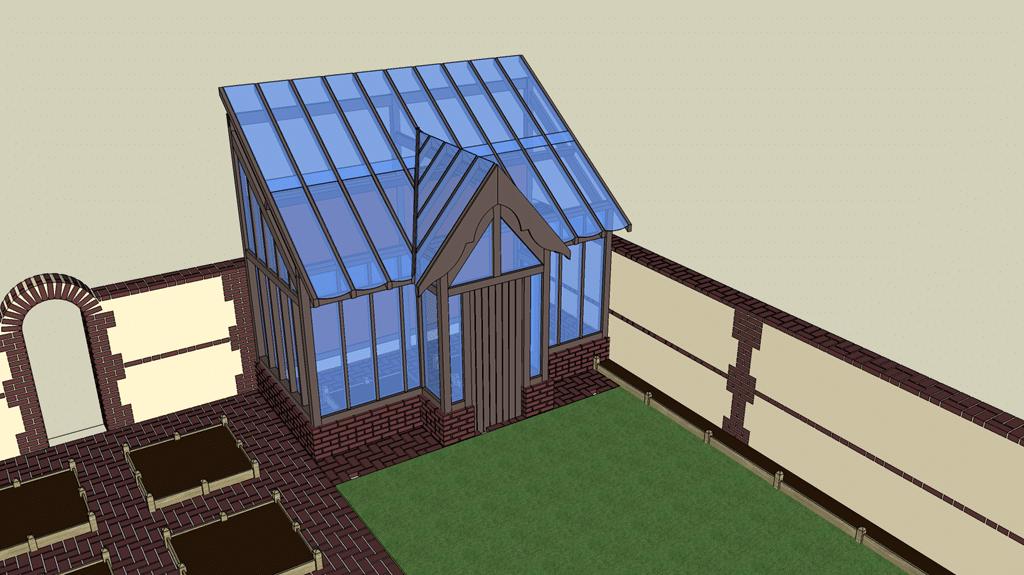 une serre version potager en carr s 2 0 mon potager en carr s. Black Bedroom Furniture Sets. Home Design Ideas