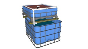 Systeme aquaponique 3D