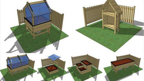 fabriquer les carr s de potager mon potager en carr s. Black Bedroom Furniture Sets. Home Design Ideas