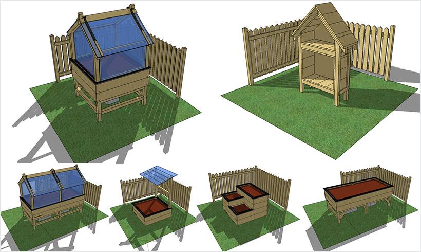 exemples de carr s de potager mon potager en carr s. Black Bedroom Furniture Sets. Home Design Ideas