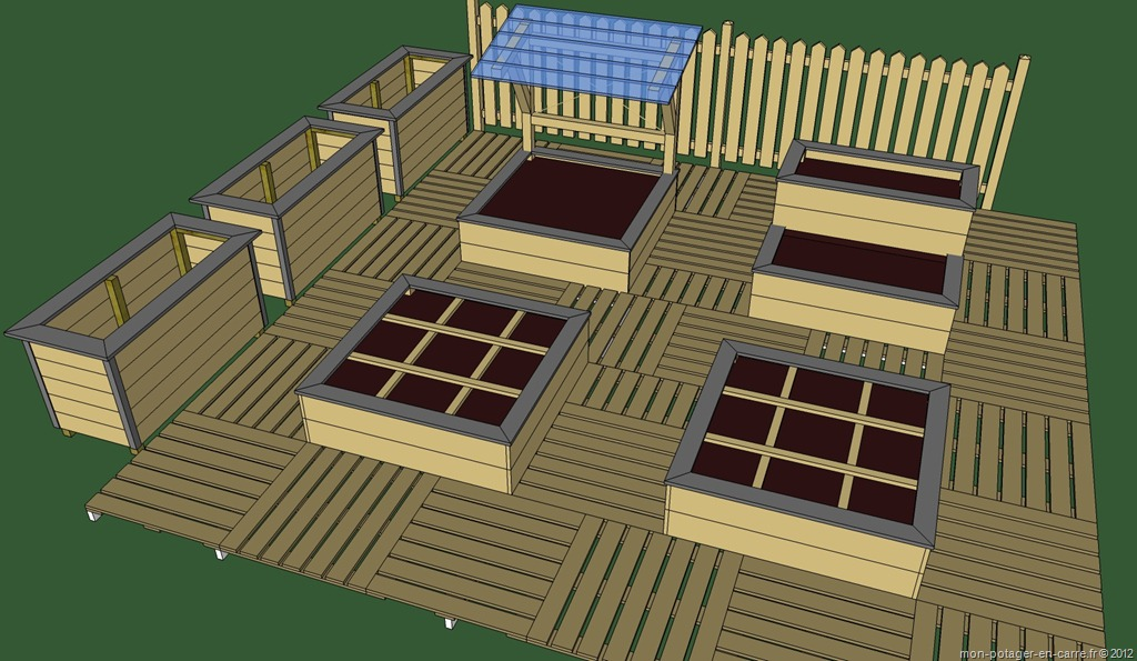 Des allées pour le potager en carrés sans creuser - Mon potager en ...