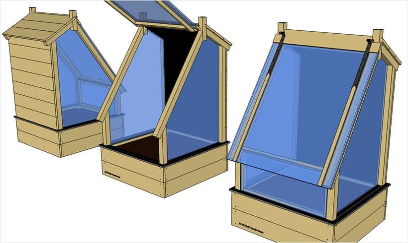 conception d 39 un serre bioclimatique mon potager en carr s. Black Bedroom Furniture Sets. Home Design Ideas