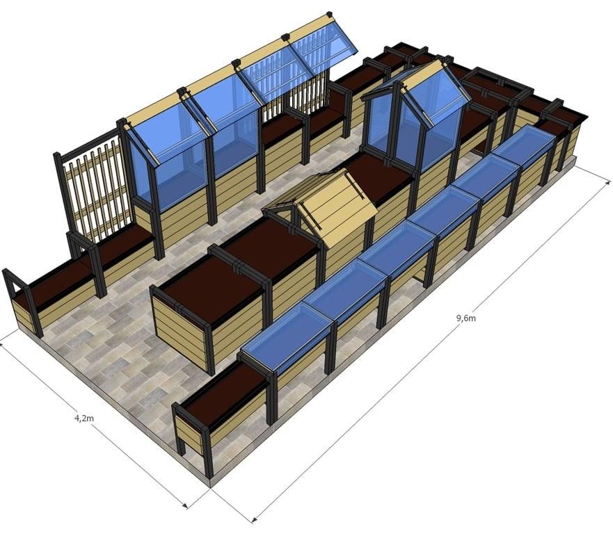am nagez votre terrasse en potager mon potager en carr s. Black Bedroom Furniture Sets. Home Design Ideas