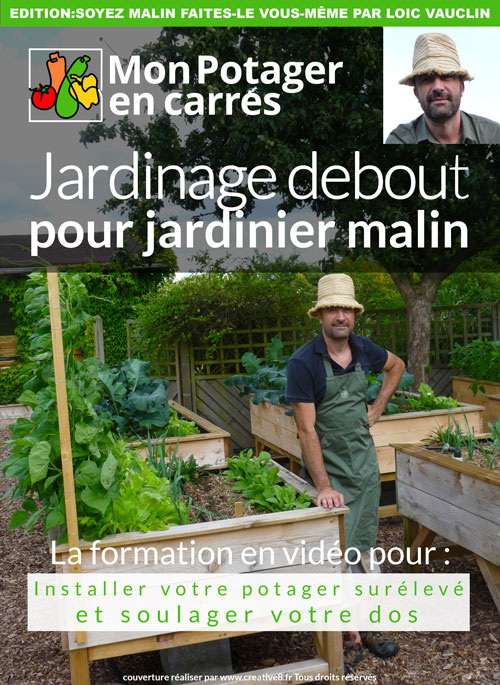 jardinage debout pour jardinier malin mon potager en carr s. Black Bedroom Furniture Sets. Home Design Ideas