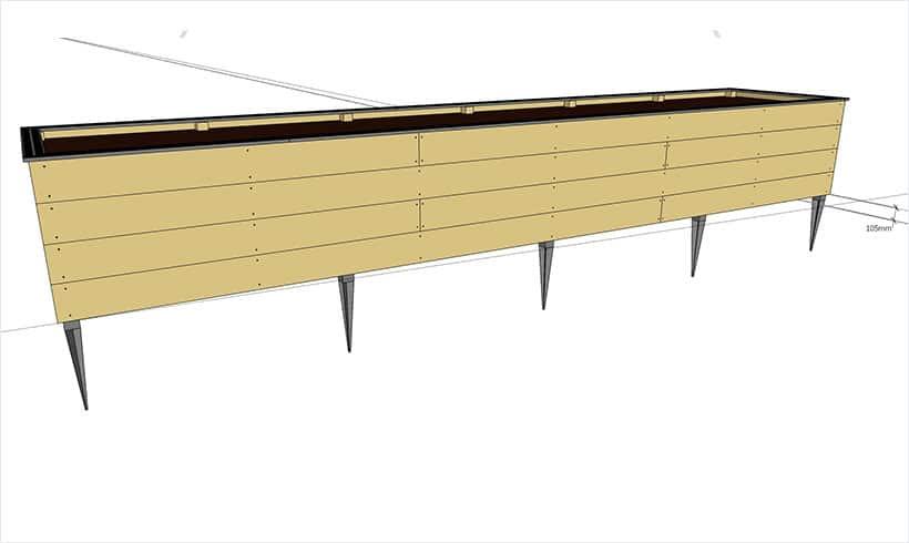 Sur une longueur de 6 mètres une pente de 1% représente plus de 10 cm de dénivelé.