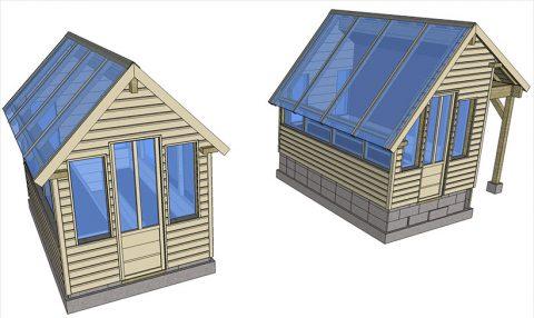 2 nouvelles conceptions de serres de jardin