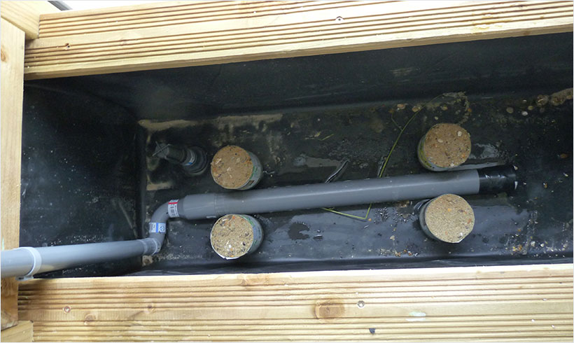 Fabriquer une jardini re wicking bed mon potager en carr s - Fabriquer ses jardinieres en bois ...