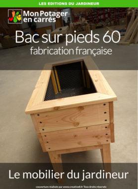 Potager sur pieds de 1m20 par 60cm de fabrication française.