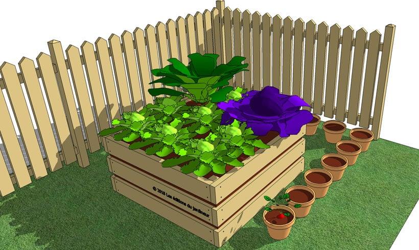 comment fabriquer un carr de potager pas cher mon. Black Bedroom Furniture Sets. Home Design Ideas