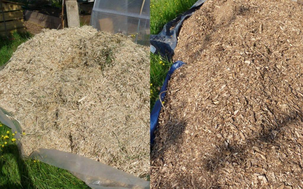 Le BRF ou « Bois Raméal Fragmenté » est constitué par de jeunes rameaux (donc, et c'est important, encore verts, juste taillés) de moins de 8 cm de diamètre.