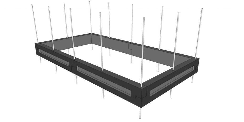 Ces planches en béton peuvent aussi bien servir à faire un carré de potager ou un potager surélevé.